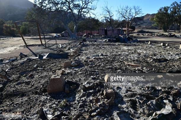 The Paramount Ranch where the television show Westworld was filmed is left in ruins after the Woolsey fire on November 12 2018 in Agoura Hills...