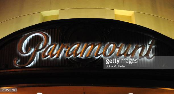 The Paramount sign is on display at the 2008 Voice Awards on May 28 2008 at the Paramount Theater on the Paramount Studio Lot in Hollywood California
