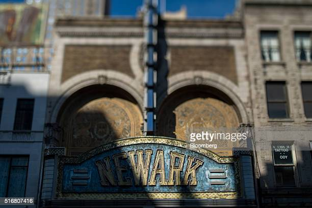 The Paramount Theater which has been closed since 1986 stands on Market Street in Newark New Jersey US on Wednesday March 9 2016 New Jersey's credit...