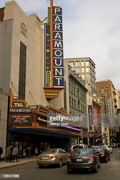 The Paramount Theatre and traffic on Washington Street is viewed on December 17 2011 in Boston Massachusetts Despite a global recession international...