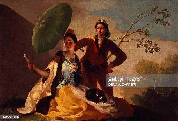 The Parasol by Francisco de Goya oil on canvas 152x104 cm Madrid Museo Del Prado