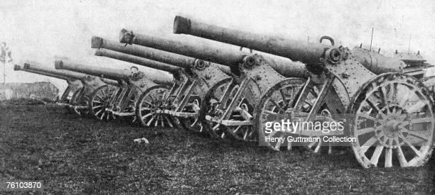 The Parc d'Artillerie or Artillery Park near Verdun during World War I circa 1916