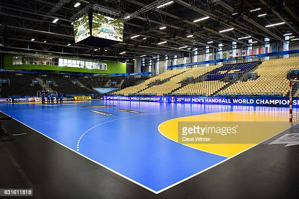 The Parc des Expositions venue during the IHF Men's World Championship match between France and Japan preliminary round Pool A on January 13 2017 in...