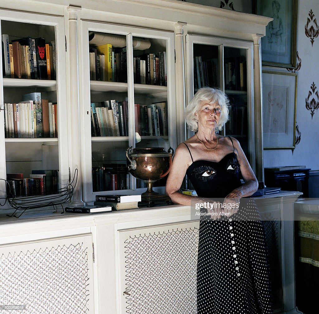 The parent of the writer Graham Greene, Sally Greene poses for a portraits session in the Potentino Castle on September 12, 2006 in Seggiano, Grosseto, Italy