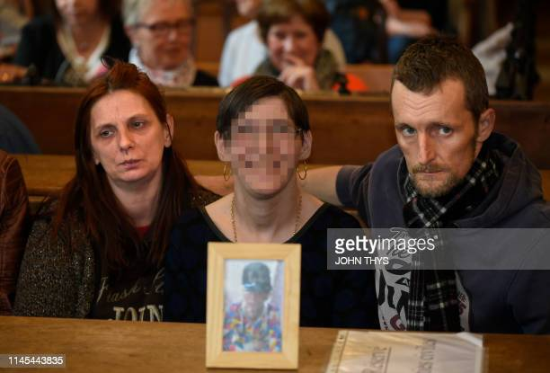 The parents and the aunt of victim Valentin Vermeersch pictured during the assizes trial of five men accused for the murder on Valentin Vermeersch...