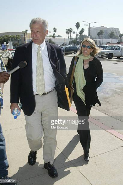 The parents of Daniel KarvenVeres arrive at the Santa Monica court April 9 2003 in Santa Monica California Opening statements were being heard in a...