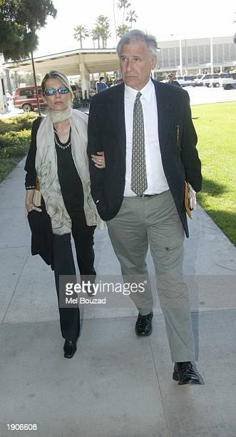 The parents of Daniel KarvenVeres arrive at the Santa Monica court in Santa Monica California April 8 2003 Opening statements are being heard in a...