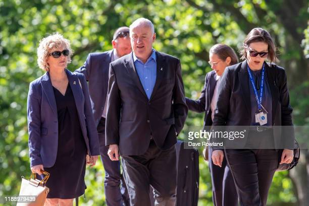 The parents of Grace Millane David and Gillian Millane arrive at Auckland High Court on November 21 2019 in Auckland New Zealand A 27 year old man is...