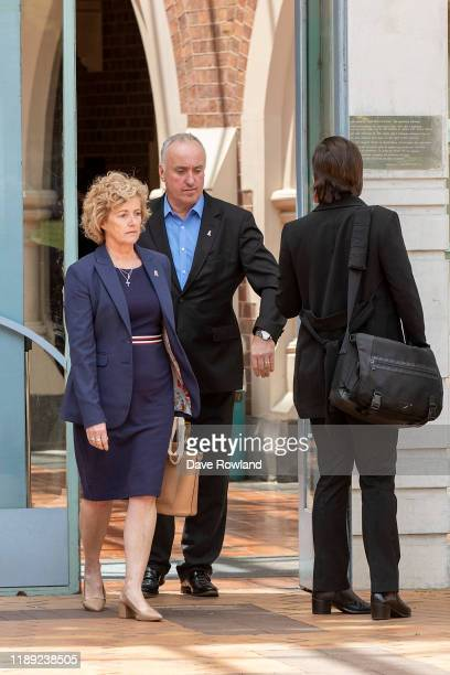 The parents of Grace Millane David and Gillian Millane leave Auckland High Court after the jury retire on November 22 2019 in Auckland New Zealand A...
