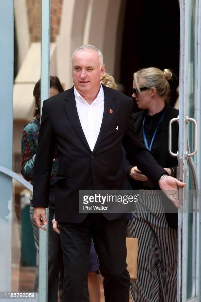 The parents of Grace Millane David and Gillian Millane leave the Auckland High Court on November 06 2019 in Auckland New Zealand A 27 year old man is...