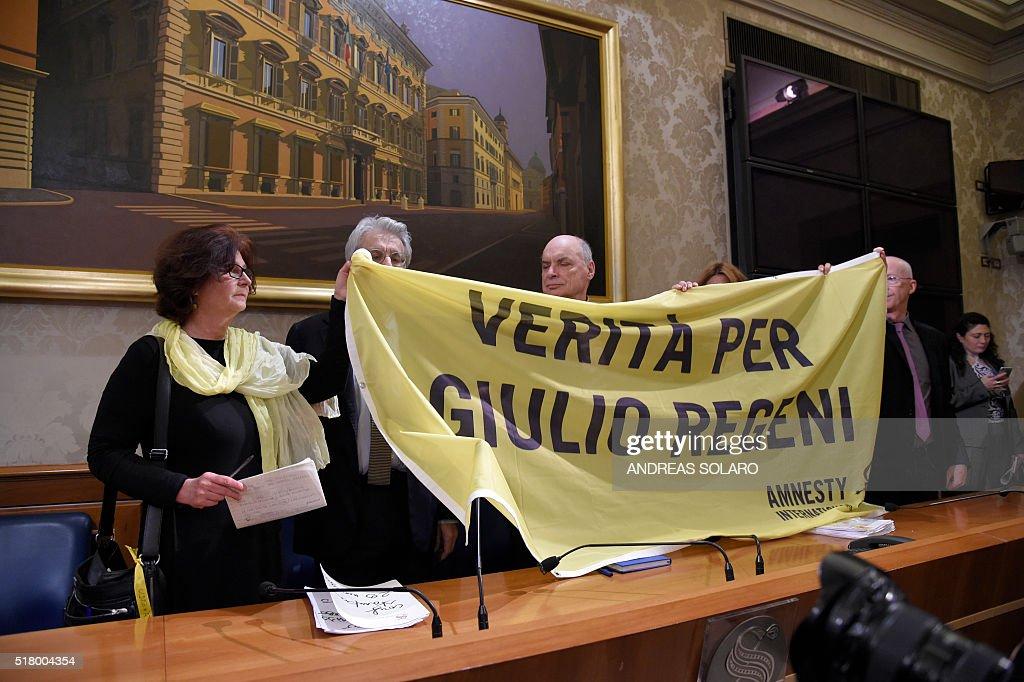 ITALY-EGYPT-MURDER-CRIME-DIPLOMACY : News Photo
