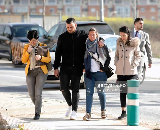 The parents of Julen the two year old boy who died after falling in a well José Rosello and Ana Garcia are seen arriving to court to declare as...