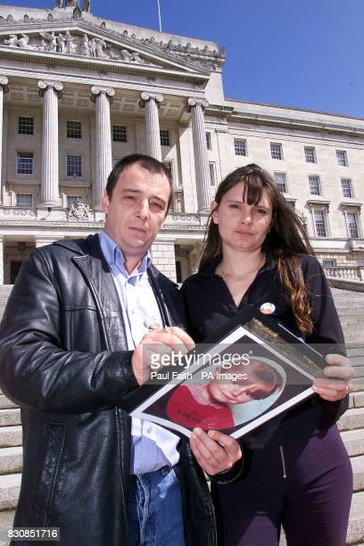 The parents of murdered eightyearold schoolgirl Sarah Payne Michael and Sara Payne at the Parliament Buildings at Stormont Belfast adding their...