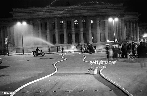 The Paris Bourse the Stock Exchange Building during the riots France 25th May 1968