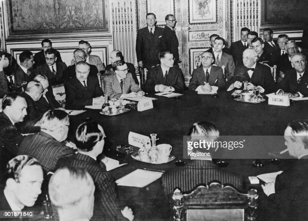 The Paris Conference of Foreign Ministers opens at the Luxembourg Palace in Paris France 25th April 1946 Ernest Bevin represents Great Britain...
