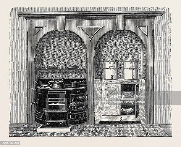 Richards' CircularFront CookingStove Improved And Manufactured By W Barton Of Boston Lincolnshire 1867