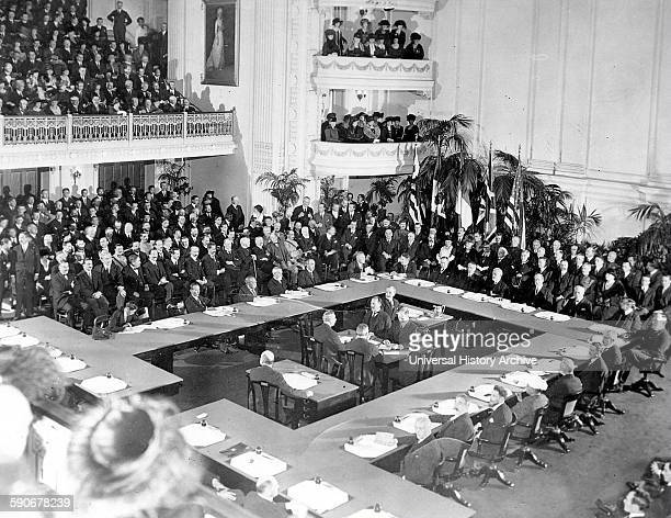 The Paris Peace Conference in January 1919 at Versailles just outside Paris at the end of world war one