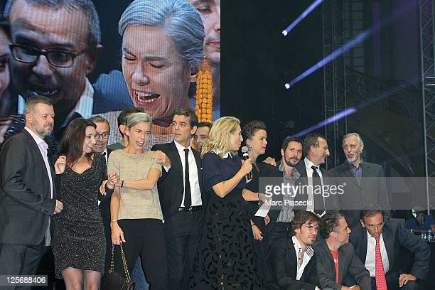 The 'Paris Premiere' presenters and journalists attend the Paris Premiere 25th Anniversary Celebration at Grand Palais on September 20 2011 in Paris...