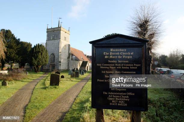 The parish church of St Mary the Virgin church in Bucklebury in Berkshire