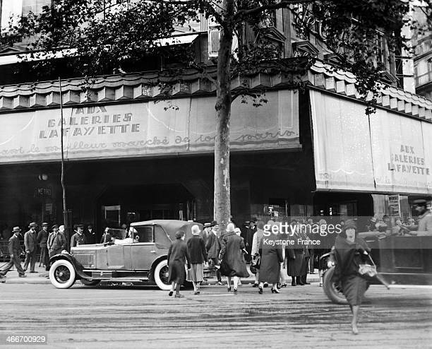 The Parisian department store Galeries Lafayette in 1928 in Paris France