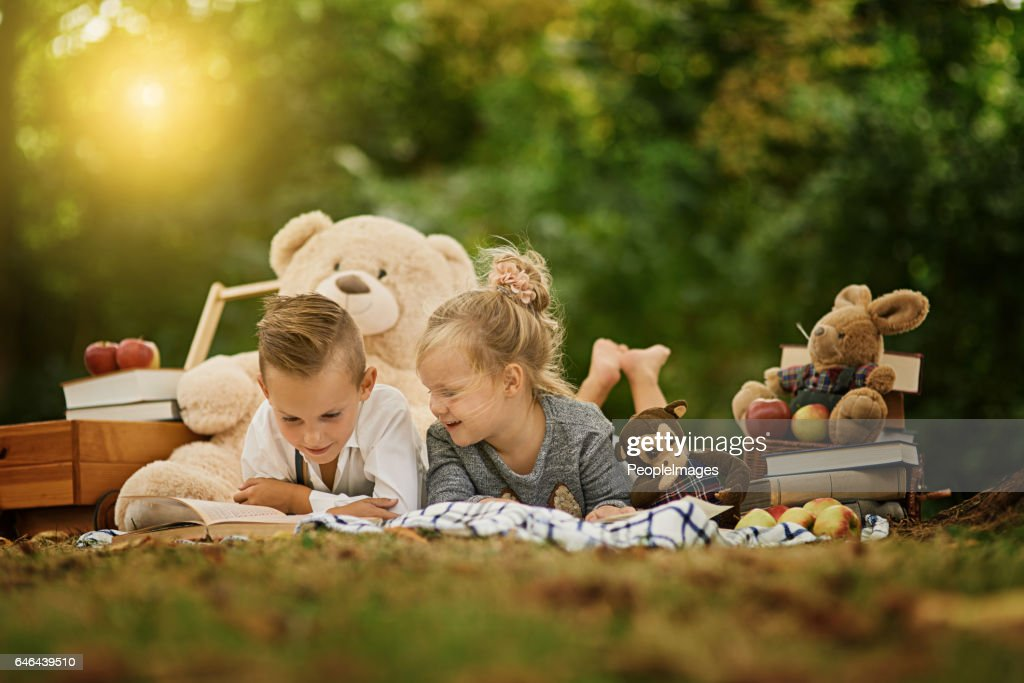 The park is a wonderful place for them to play : Stock Photo