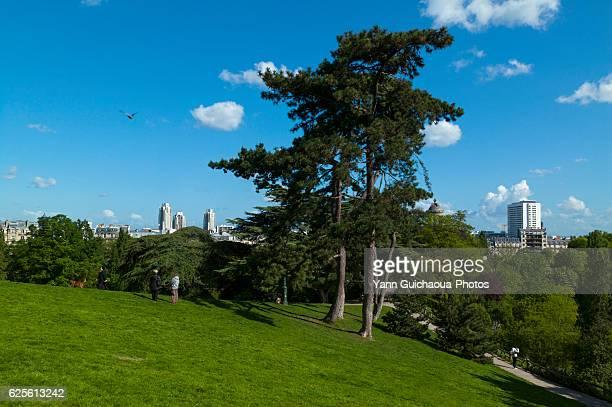 The Park Of Buttes Chaumont, Paris, France