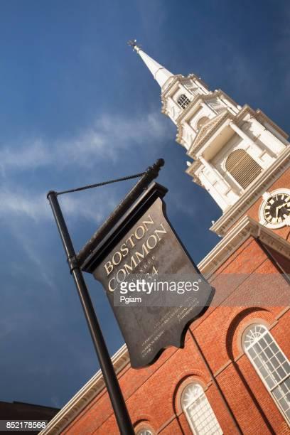 The Park Street Church on Boston Common