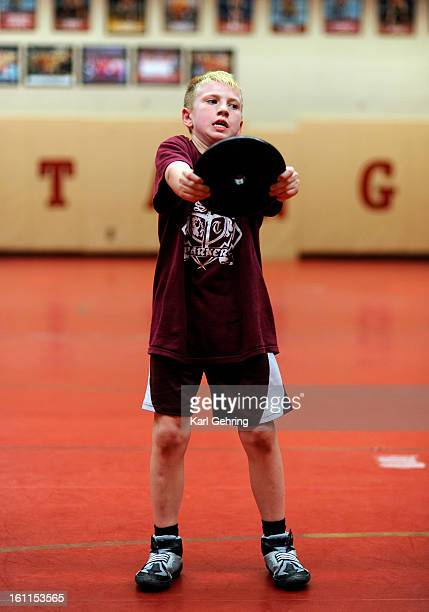 The Parker Sons of Thunder elite wrestling program worked out Wednesday night January 27 2010 in the Ponderosa High School wrestling gym The young...