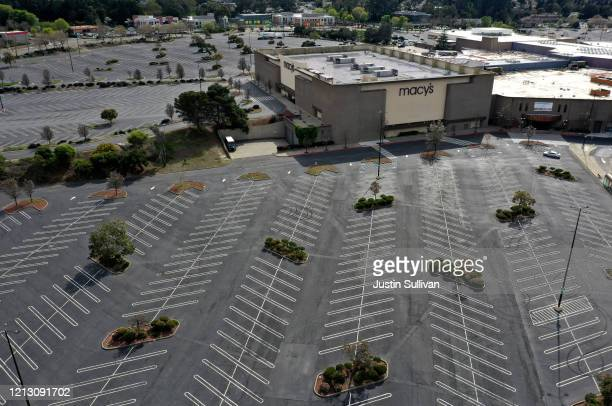 The parking lot at Hilltop Mall sits empty on March 17 2020 in Richmond California Seven San Francisco Bay Area counties have ordered residents to...