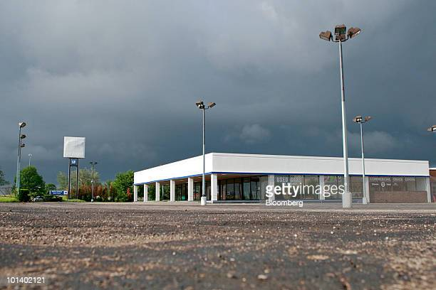 The parking lot sits empty at the Joe Panian Chevrolet dealership in Southfield, Michigan, U.S., on Tuesday, June 1, 2010. General Motors Corp. Filed...