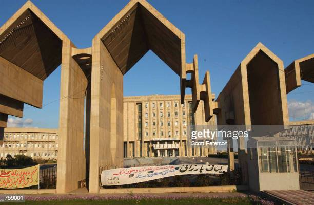 The parliament building of the Kurdistan Regional Government is shown March 23 2002 in Arbil Iraq Free of Saddam Hussein's control in the safe haven...
