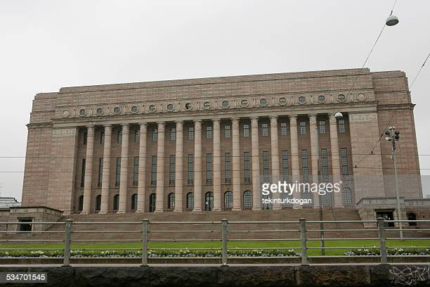The parliament house of finnish governance in helsinki finland