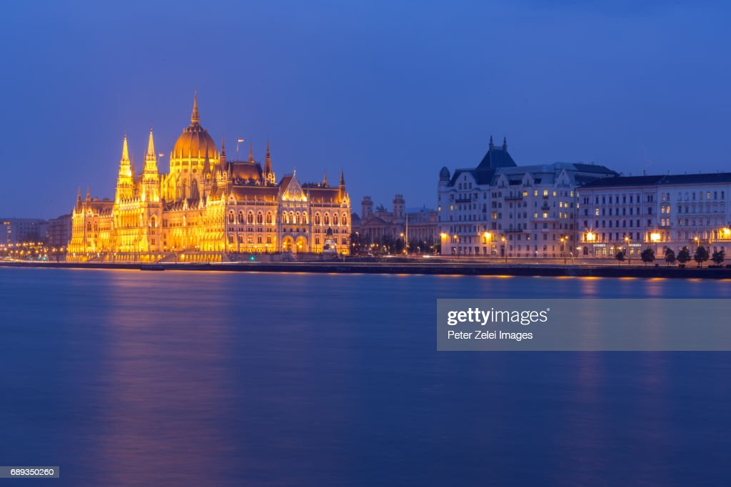 The Parliament of Hungary in Budapest, Hungary : Stock Photo
