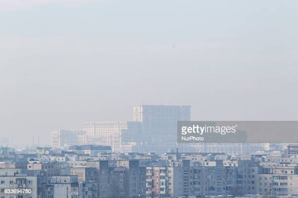 The Parliament of Romania building is seen in central Bucharest on 3 Friday, 2017. The Peoples House as it is also known is the fourth largest but...