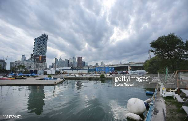 TORONTO ON JUNE 24 The Parliment Quay area of the Quayside portion of the Sidewalk Labs development Sidewalk Labs unveiled a conceptual scale model...