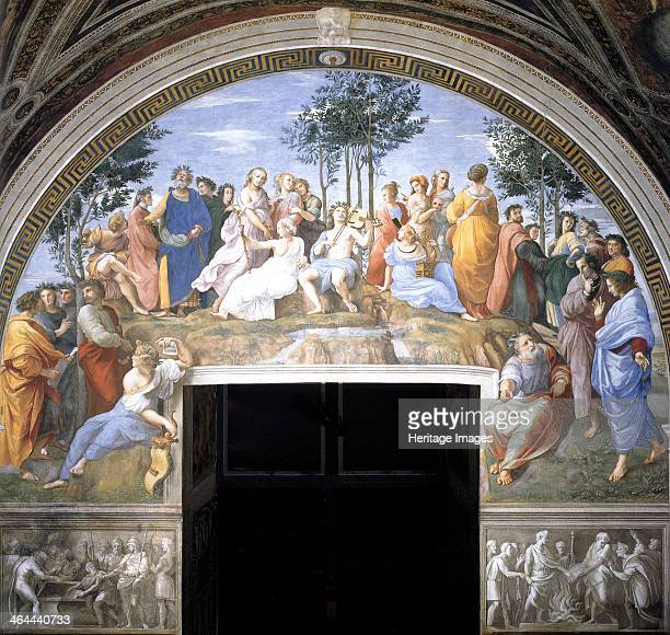The Parnassus 15091511 Found in the collection of the Apostolic Palace Vatican