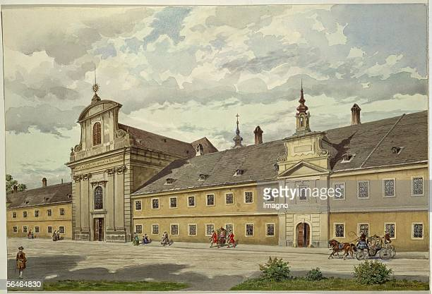 The parochial church Maria Geburt formerly an orphanage church in Vienna's third district on Rennweg Mozart conducted his first mass there while...