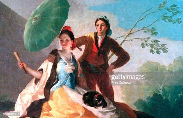 'The Parosol' 1777 Located in the collection at Prado Museum Madrid Spain