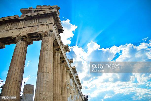The Parthenon and blue sky