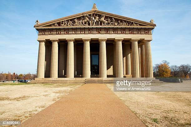 the parthenon, centennial park, nashville, tennessee - パルテノン神殿 ストックフォトと画像