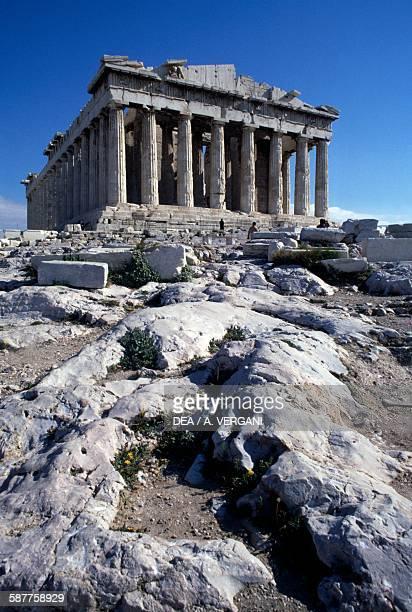 The Parthenon front view Acropolis of Athens Greece Greek civilisation 5th century BC