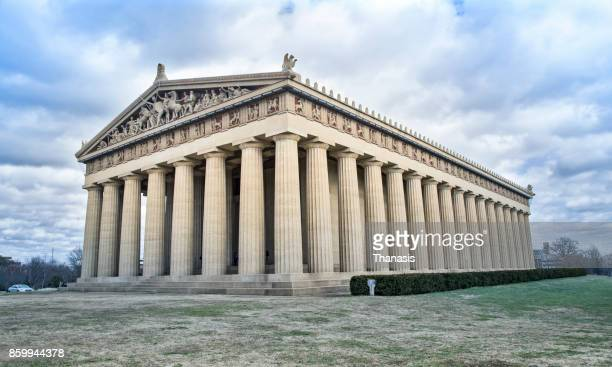 the parthenon in centennial park, nashville, tennessee.usa. - classical greek style stock pictures, royalty-free photos & images
