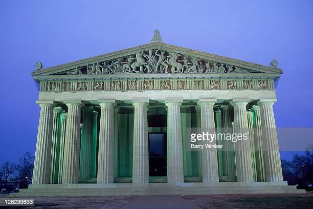 the parthenon in centennial park, nashville, tn - パルテノン神殿 ストックフォトと画像