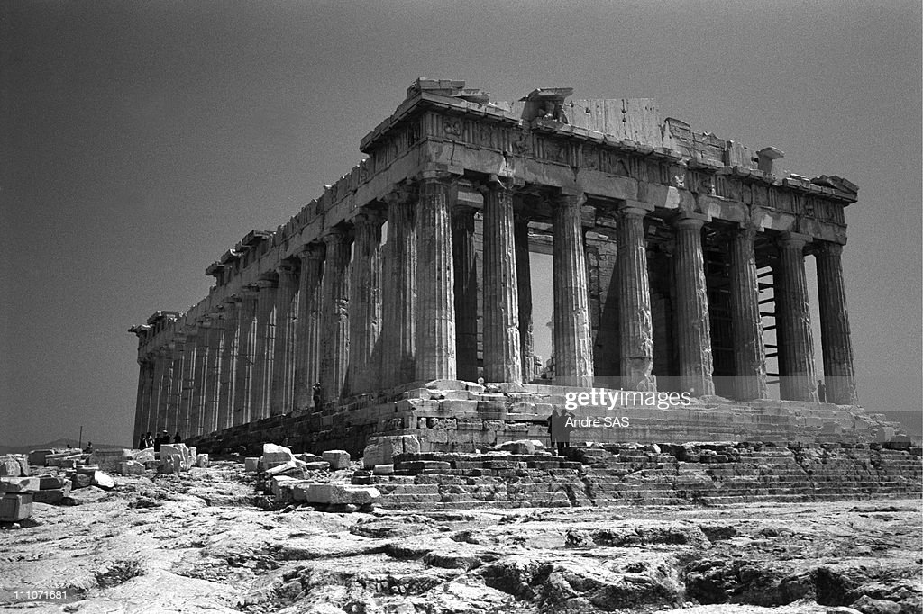 The Parthenon In Athens, Greece On February, 1969 : News Photo