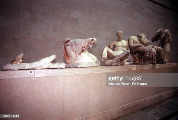 The Parthenon Sculptures also known as the Elgin Marbles at the British Museum in London As the pressure mounts on Britain to return the marbles to...