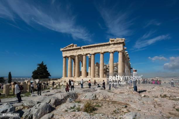 The Parthenon temple on the Athenian Acropolis, Greece