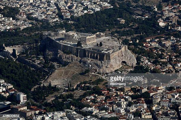 The Parthenon temple sits on Acropolis Hill in central Athens Greece on Thursday June 25 2015 Greece could tap euroarea funds of as much as 335...