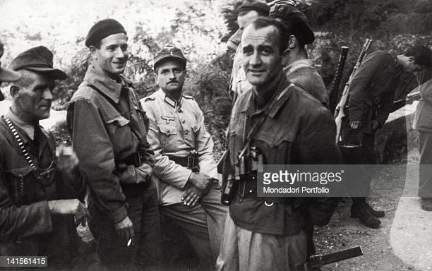 The partisan chiefs Giovanni Berio and Sorani together with Germans and fascists to discuss about the exchange mode of some prisoners Finero Val...