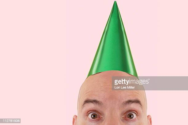 the party hat man series - lori lee stock pictures, royalty-free photos & images
