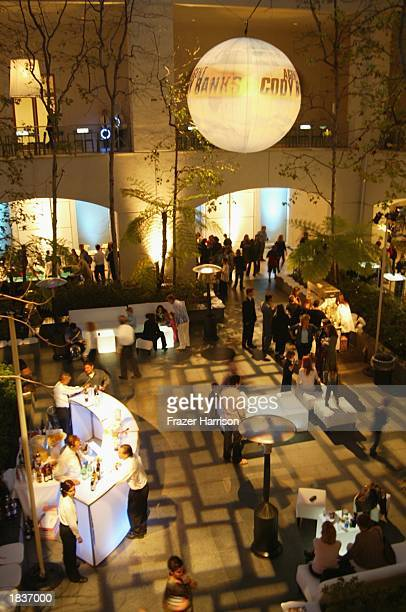 The party is photographed at the Agent Cody Banks after party at the Hammer Museum UCLA on March 8 2003 in Westwood California
